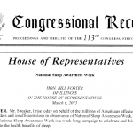 National Sleep Awareness Week Foster Congressional Record