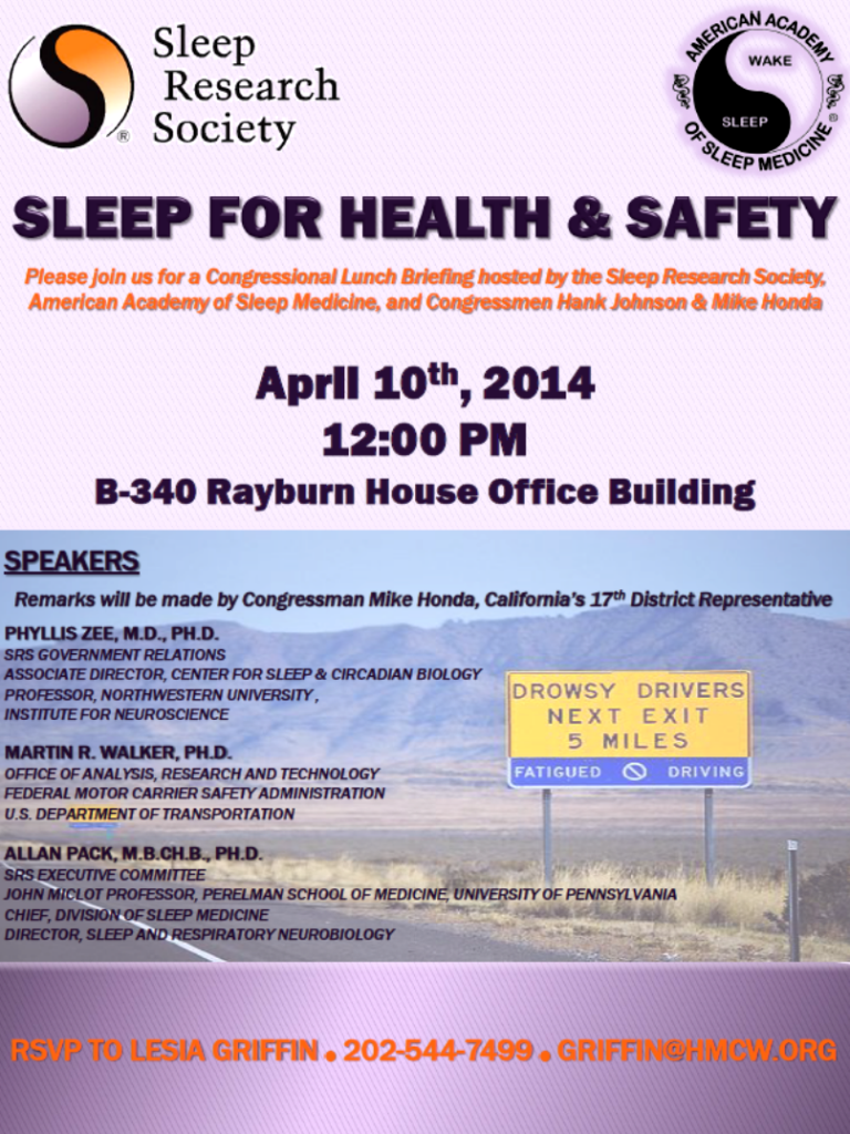 sleep health congressional briefing april 10 2014
