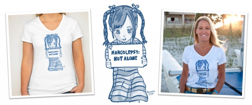 NARCOLEPSY NOT ALONE tshirt girly narcolepsy awareness design april scarlett lee