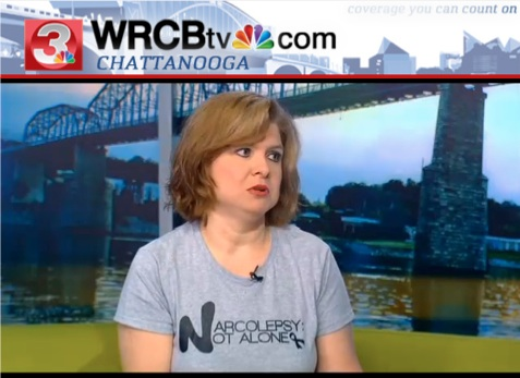 Narcolepsy Not Alone Narcolepsy Awareness Campaign Julie Flygare Valencia Blake NBC News WRCB tv Chattanooga The Doctors Show Narcolepsy Blog Awareness