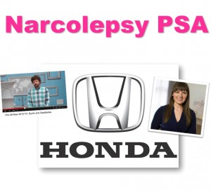 narcolepsy advertisement public service announcement julie flygare narcoleptic cataplexy wide awake and dreaming author project sleep founder julie flygare