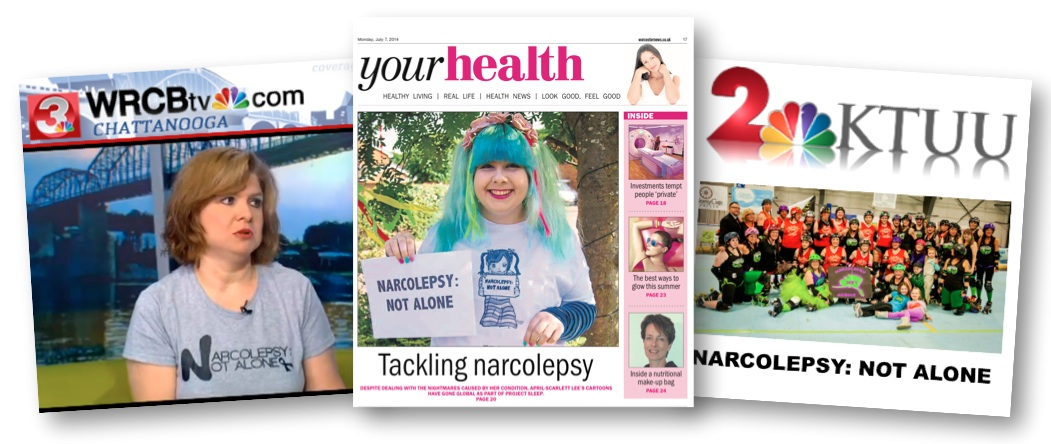 narcolepsy not alone in the news valencia heather april scarlett project sleep narcolepsy awareness campaign